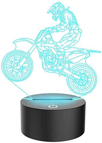 Ilusión Óptica 3D Led Luz Luz Nocturna De 7 Colores Bicicleta De Montaña 7 Colores Cambio De Botón Táctil Y Cable Usb Navidad Cumpleaños Regalo