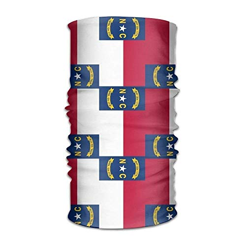 Redesign North Carolina Flag Versatile Outdoors Daily Stylish Headwear Multifunctional Sport Headband Sweatband,Magic Scarf,Head Wrap,Neck Gaiter,Bandana,Helmet Liner, Balaclava,Tube Mask