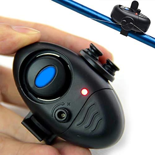 Chennie 1 Stücke Angeln Bissanzeiger Werkzeug L-ED Anzeige Sound Alarm Glocke Elektronische Nachtangeln Clip Auf Angelrute