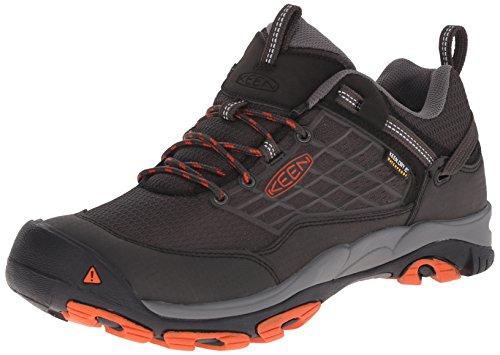 KEEN Men's Saltzman Waterproof Outdoor Shoe, Raven/Koi, 12 M US