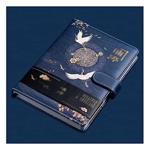 XWDQ Lindo Cuaderno Crane Classic Crane Estilo Chino, Hardcover, Trajes para Niñas, Niños y Diario de Niños, Cuenta Mano, Bloc de Notas Escuela (Color : Type A, tamaño : 8.1 * 7.6inch)