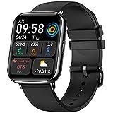 VOTUENIX Reloj Inteligente Hombre Mujer de 1.69 Pulgadas Pantalla Táctil Ccompleta IP68 Reloj Inteligente con 24 Deportes, Smartwatch con Sueño/Pulsómetro,GPS,Caloría, Reloj Deportivo para Android iOS