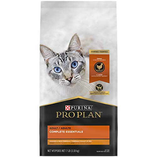 Purina Pro Plan With Probiotics, High Protein Dry Cat Food, Chicken & Rice Formula - 7 lb. Bag