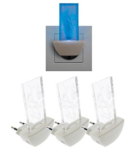 Trango 3er Pack LED Steckerlicht TG11-S40 Wandlampe, Steckdosenlampe, Orientierungslicht, Kinderlicht, Nachtlicht, Steckdose Sicherheitslicht