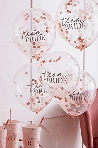 David's Bridal Team Bride Confetti Balloons Style HN-810, Blush