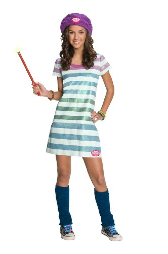 Wizards of Waverly Place Alex Striped Dress Costume, Small