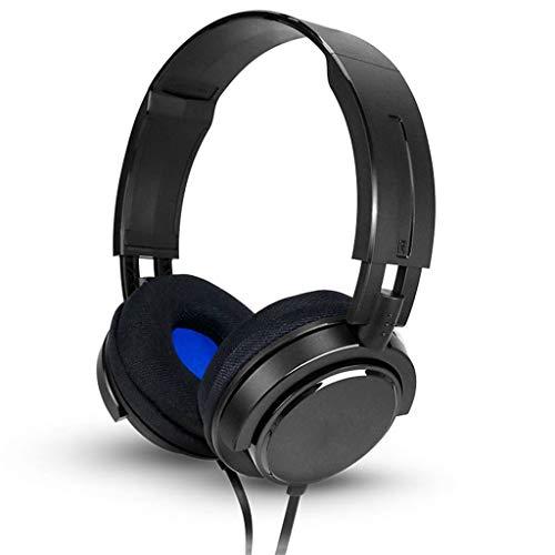 hoofdtelefoon, bekabeld, subwoofer, muziek, games, DJ, monitor, draaibaar. Zwart