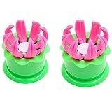 Molde de bollo chino de 2 piezas, herramienta de molde para hacer bolas de masa de pastel de pastelería DIY, molde para bollos rellenos al vapor, herramientas de cocina (2 piezas, verde)