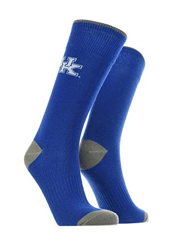 TCK Kentucky Wildcats Dress Socks Deans List Crew Socken, Herren, Blau/Grau/Weiß, Large