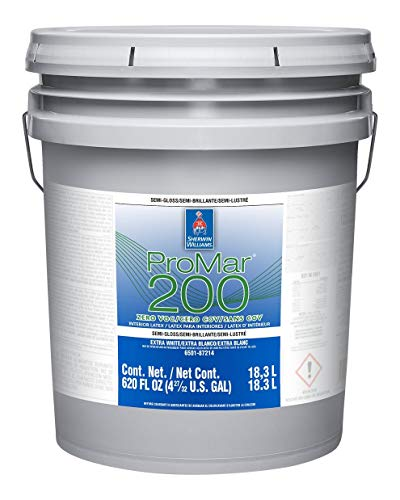 Sherwin Williams ProMar 200 Semi-Gloss Silvery Gray 5-Gallons Interior Paint
