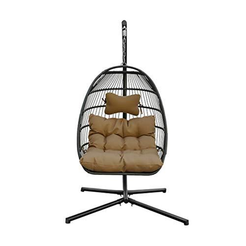 BMNN Wicker Tear Drop Hanging Chair Egg Hammock Chair with Hanging Kits, Rattan Wicker Swing Hanging Chair for Indoor Outdoor, Patio, Garden, Yard Wicker Hanging Chair