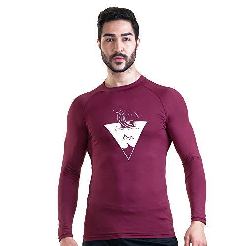 Turaag - Camiseta de Manga Larga para Hombre, Secado rápido, Absorbe la Humedad, Entrenamiento y Gimnasio. - Rojo - Medium