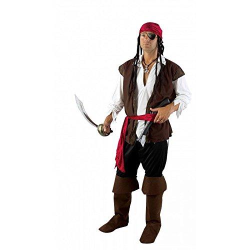 P'TIT CLOWN 89125 Déguisement Adulte Luxe Pirate Veste Sans Manches - L/XL - Multicolore