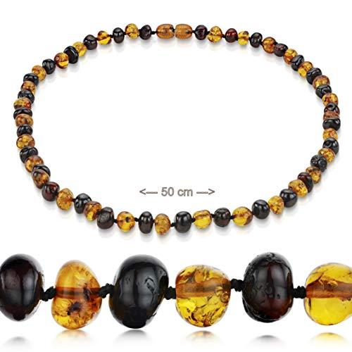 Amberta Natur Bernstein Kette Halskette ECHTE BALTISCHE Bernstein (50 cm)