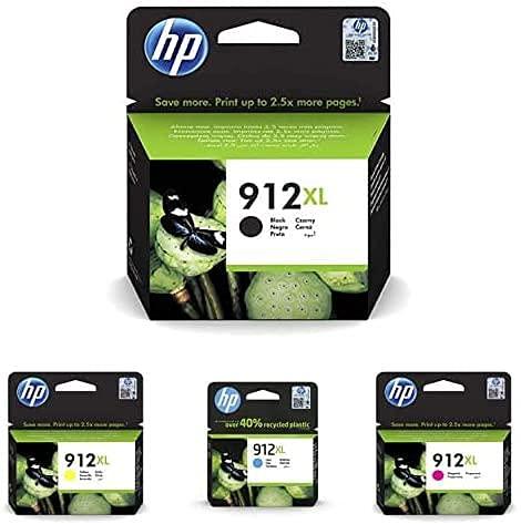 HP 912 XL, 3YL81AE, Cartuccia Originale ad Alta Capacità, da 825 Pagine, Compatibile con le Stampanti a...