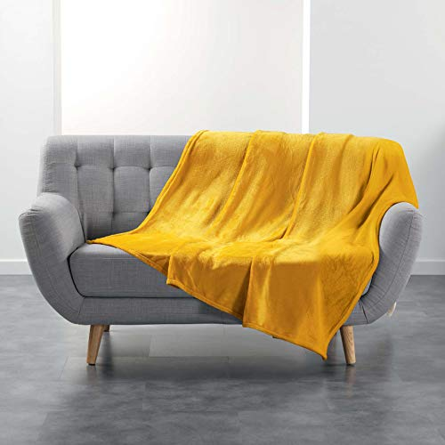 plaid jaune moutarde ikea