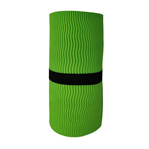 Yogamatte, umweltfreundlich, rutschfest, tragbar, faltbar, für Yoga, Pilates und Gymnastik, nicht null, grün