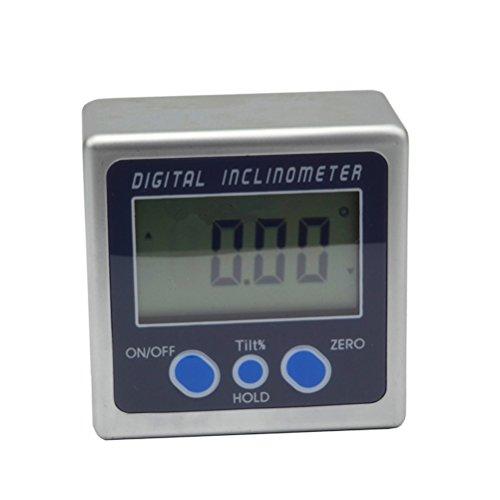 Qianqian56 360 Degree Digital Protractor Inclinometer Electronic Level Box Magnetic Base Measuring Tools