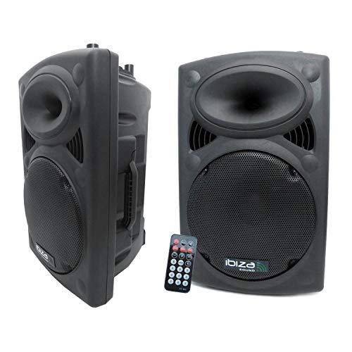 Ibiza Sound - Altavoz activo amplificado 800w + altavoz pasivo 700w