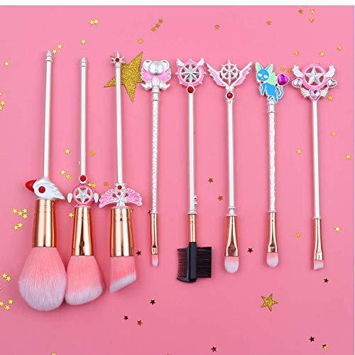 8Pcs Sakura/Sailor Moon Maquillage Pinceaux Outils Kit Eye Liner Shader Ombre à paupières poudre fard à joues Délestage doux cheveux BTZHY