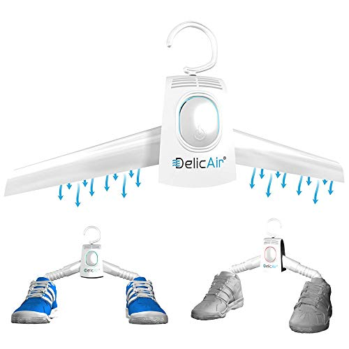 DelicAir Portable Dryer, Clothes Hanger And Shoe Dryer With HOT AND COLD Drying Technology SAFELY Dry, Refresh, Eliminate Wrinkles And Odor, Gentle, Quiet, Easy To Use, Perfect For Travel!