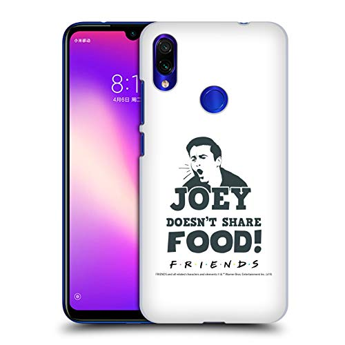 Official Friends TV Show Joey Food Quotes Hard Back Case Compatible for Xiaomi Redmi Note 7/7 Pro