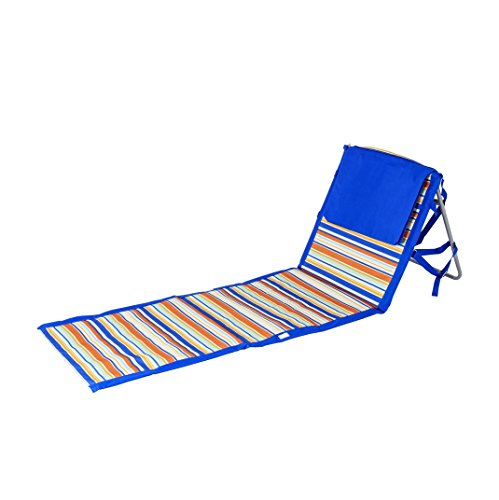 Beaches & Bonfires 91288.0 On The Go Portable Beach Reclining Lounger, Dark Blue