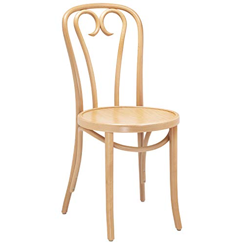 Bentwood 1016 Curlicue Side Chair | Handcrafted Wooden Michael Thonet Chair with a Beechwood Frame | Rustic Indoor Furniture Decor for Kitchen, Dining, Bedroom, Bistro, Vanity | Natural