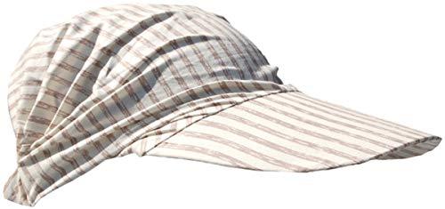 Cool4 Gorro de verano para la cabeza, para la playa, bandana, protección solar, A01 Marfil (Beige Stripe) (XS/S) S
