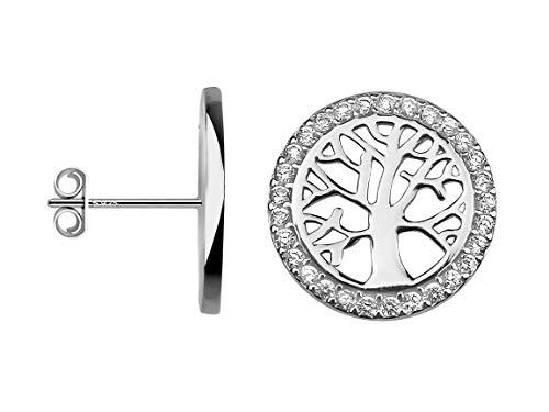 SOFIA MILANI Damen Ohrringe Ohrstecker Lebensbaum Silber 20558