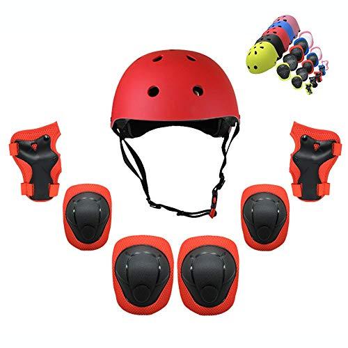 LAYBAY Kinder Knieschoner Set Kinder Erwachsene Rollschuh Mine Mine Schutzausrüstung Skateboard Fahrrad Fahrrad Helm Schutzausrüstung Balance Bike 7 Sets