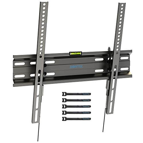 BONTEC Soporte TV Pared Inclinable Ultra Delgado para 23-55 Pulgadas Television de LED/LCD/Plasma, Carga Máx. 45kg, Máx VESA 400x400 mm