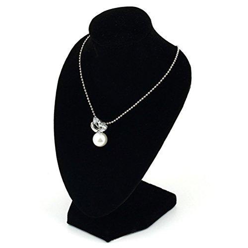 Display 08 - Maniquí negro para mostrar collares y colgantes.
