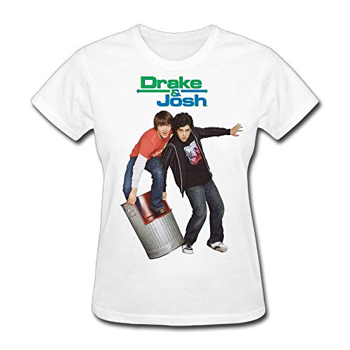 PRESENT Drake-&-Josh Womens Cool Short Sleeve Cotton T-Shirt White XS