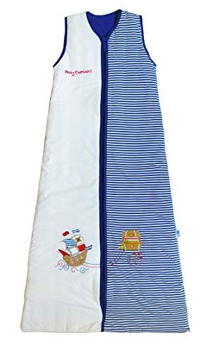 Schlummersack Jungen Kinderschlafsack leicht gefüttert in 1 Tog - Pirat - 150 cm/6-10 Jahre