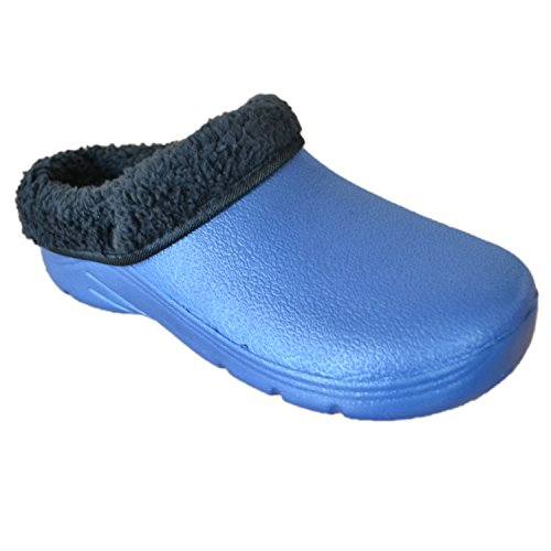 Briers damskie / damskie buty ogrodowe chodaki ze zdejmowaną podszewką z polaru, granatowy UK: 4, EUR: 37