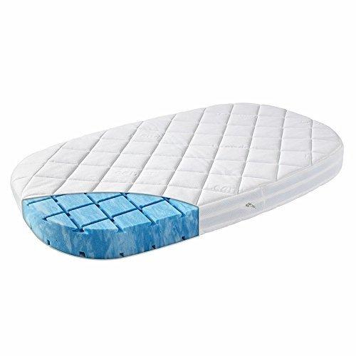 Original Leander Träumeland Premium +7 Cellflex Schaummatratze für das Leander Bett Babybett (Babygröße) oval
