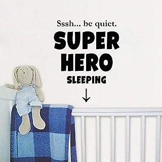 46.5 CM * 58 CM Sssh ser silencioso Superheor Sleeping Decal PVC para habitación de niños etiqueta de la pared