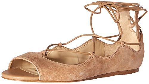 Sam Edelman Women's Barbara Ballet Flat, Golden Caramel Suede, 9 M US
