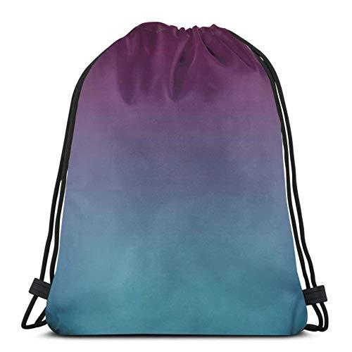 Purple Blue Teal Fade Shopping Sport Drawstring Bags Gym Bag
