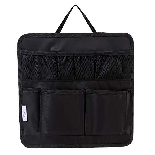 【SIMPS】バッグインバッグ 大容量 両面 インナーバック リュックインバッグ ブリーフケース 縦型 薄型 11ポケット 多機能 小物収納 撥水 ナイロン 旅行 出張 入れ替え ハンドル付き