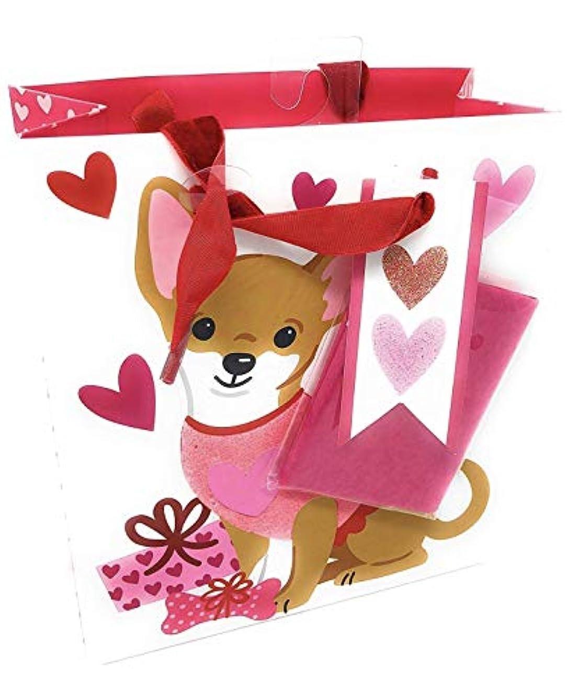 Cynthia Rowley Chihuahua Pink Hearts Gift Bag