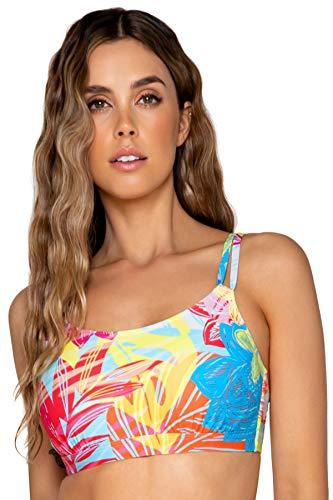Sunsets Women's Taylor Bralette Bikini Top Swimsuit with Underwire, Hot Tropics, 38DD