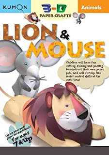 Animals Lion & Mouse (Kumon 3-d Paper Crafts)