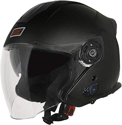ORIGINE Casco Jet con Bluetooth Integrato Palio 2.0 (L, Matt Black)