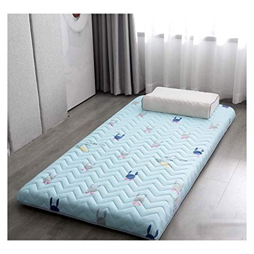 Tatami Floor Mat Traditional Japanese Futon Bed Mattress Pad Student Dormitory Thick Mattresstopper Washable Folding Sleeping Pad Soft Roll Up Foldable Mat,B-80x190cm(31x74.8 in)
