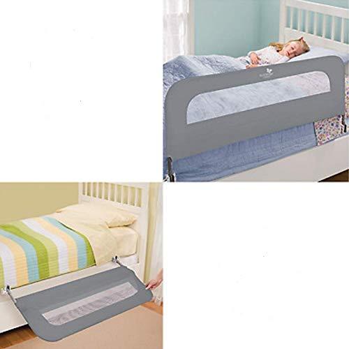 Summer Infant Extra Long Folding Single Bedrail, Grey