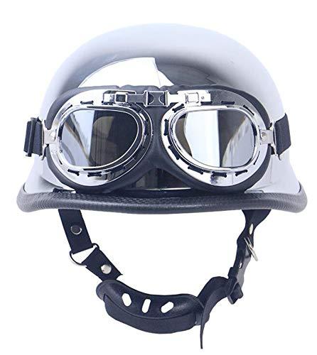 GAOZHE Visera Casco Motocicleta,para Street Bike Cruiser Chopper Moped Scooter Motocross Racing,Profesional Half Moto Cascos Helmet para Mujer y Hombre Certificado Dot