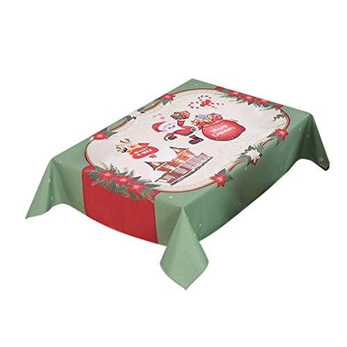 Smonke Neue Weihnachten Tischdecke/Stuhlabdeckung Digitaldruck Weihnachten Tischdekoration DIY Handwerk Verschönerung Fashion Party Festival Dekoration