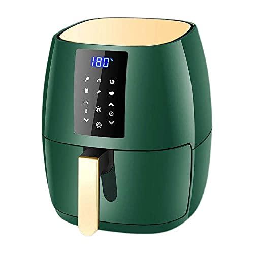 Heigmz g Freidora de aire de 6 y 4,5 litros con pantalla táctil con múltiples funciones de cocción, sin aceite, máquina inteligente de fritas eléctrica pequeña, verde (tamaño: pequeño)